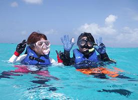 現実とは思えないほどの透明度でダイビングを体験